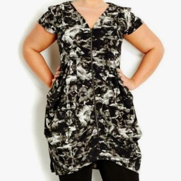 33069bccb3c City Chic Dresses | Last Chance Zipfront Tunic Dress | Poshmark